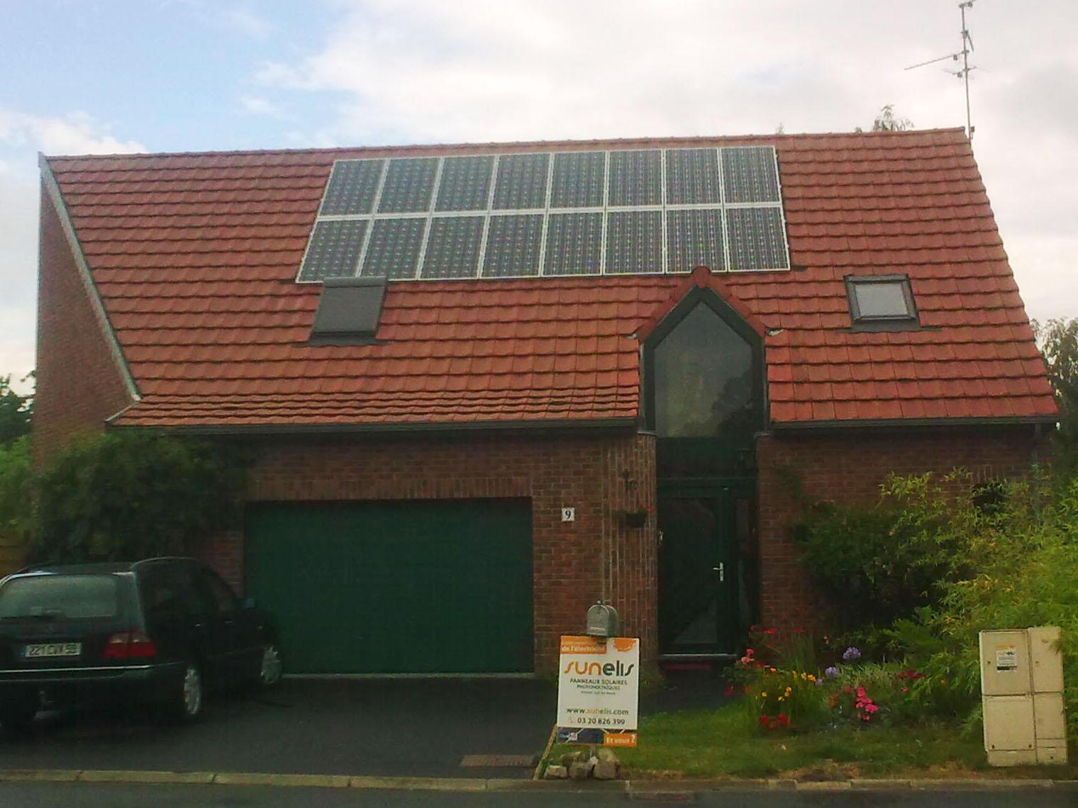 petite foret devis installation panneau solaire photovolta que nord sunelis. Black Bedroom Furniture Sets. Home Design Ideas